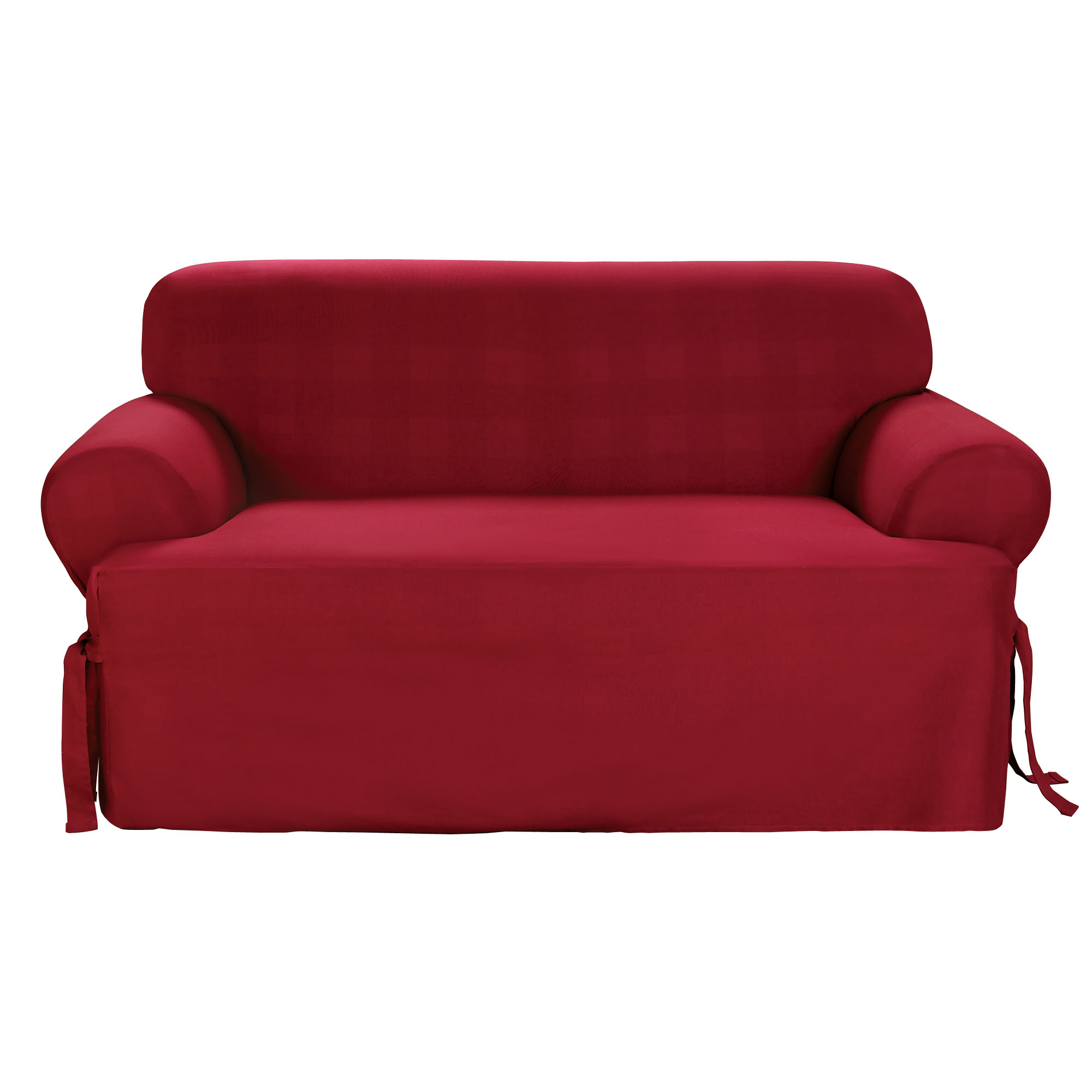 Sure Fit Cotton Duck T Cushion Sofa Slipcover Claret Ebay